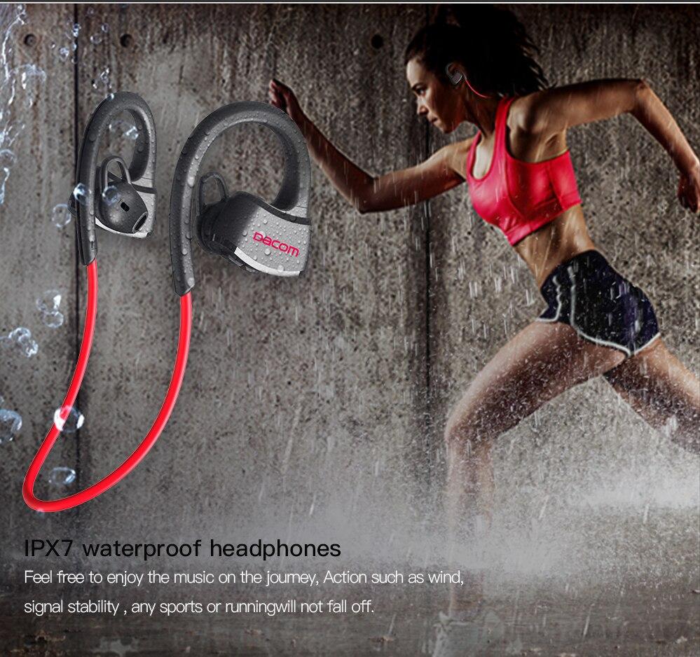 DACOM P10 sportowe słuchawki bluetooth IPX7 wodoodporne bezprzewodowe słuchawki Stereo zestaw słuchawkowy z mikrofonemSłuchawki douszne i nauszne BluetoothElektronika użytkowa -