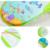 Plegable Bañera Bebé Neto Baño Toalla Cama Con Silla de Baño para Bebés Y Accesorios Del Bebé Baño Estante