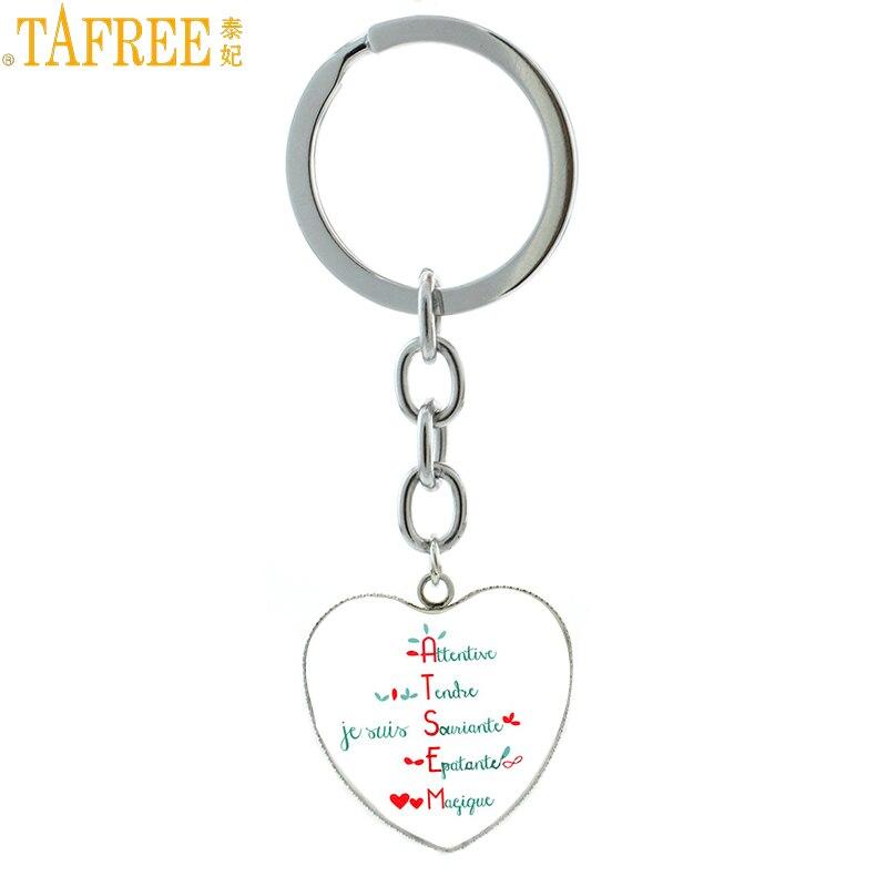 TAFREE 2017 νέα Δώρα για Δάσκαλο Merci Maitresse κρεμαστό κόσμημα με μπρελόκ είναι μια από τις πιο δημοφιλείς μάρκες HP585