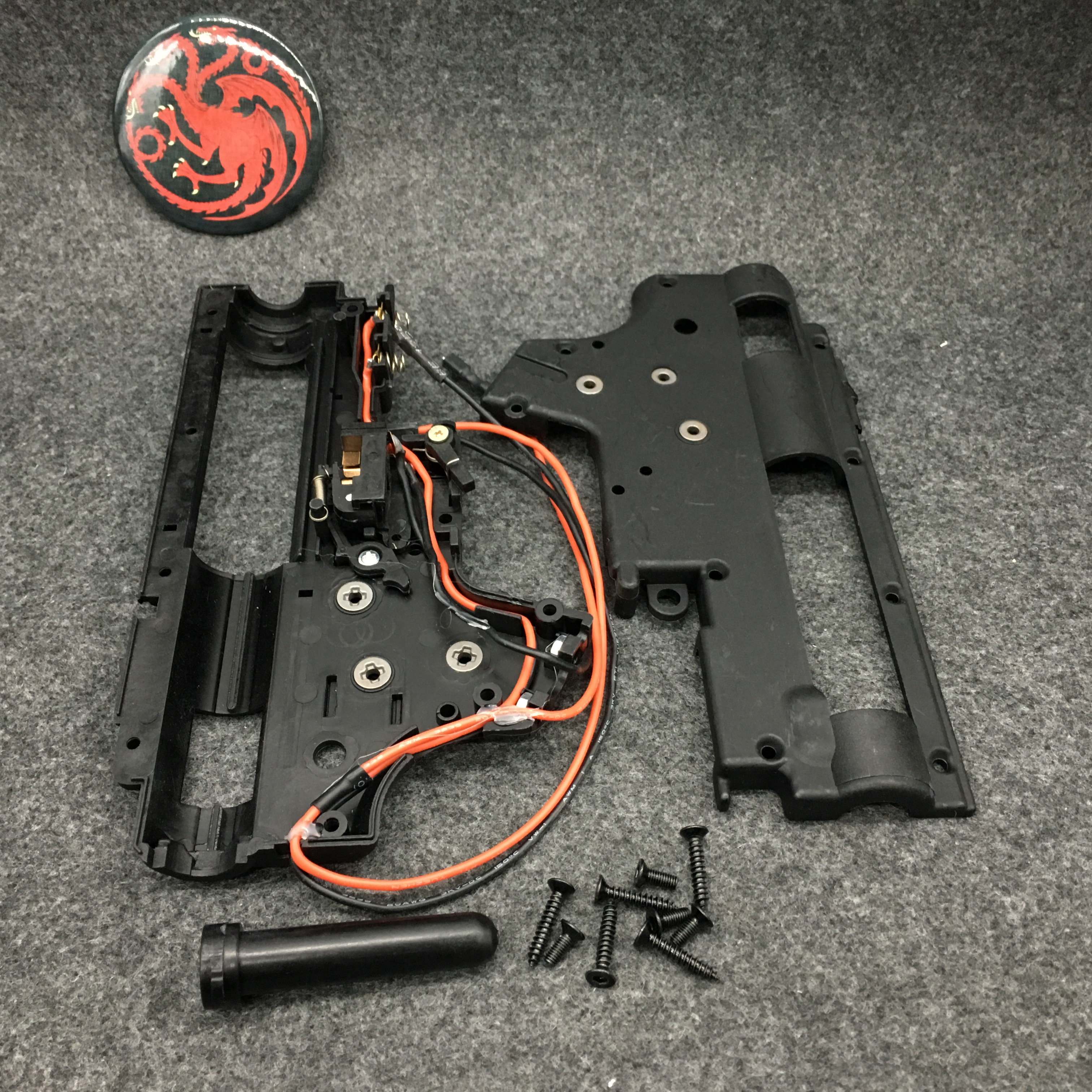 JingMing Gen9 J9 Gen10 J10 Water Gel Ball Blaster Upgraded Nylon V2 Gearbox Body Shell With Battery Cable Switch