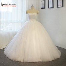 Amanda Chen Novias Custom Made White Sweetheart Ball Gown