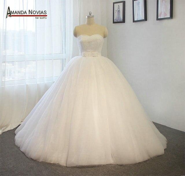 Amanda Novias Por Encargo del vestido de Boda de Novia Blanco Sin ...