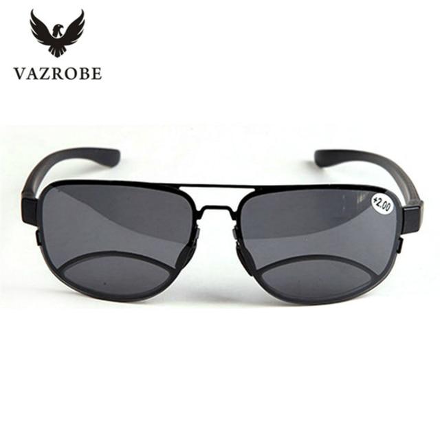 fc6ccef0cdff0 Vazrobe homens polaroid lente polarizada óculos de sol óculos de leitura bifocal  óculos de sol para