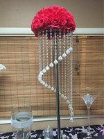 120cm wedding backdrop T stand Stage decoration luxury acrylic crystal wedding road lead wedding table flower display stand