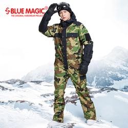 Blau magie wasserdicht snowboarden ein stück skifahren overall männer snowboard-30 grad schnee ski anzug Winter kleidung overall