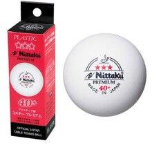 Настоящий Nittaku ITTF одобренный 3-Star Премиум 40+ пластиковый мяч для настольного тенниса