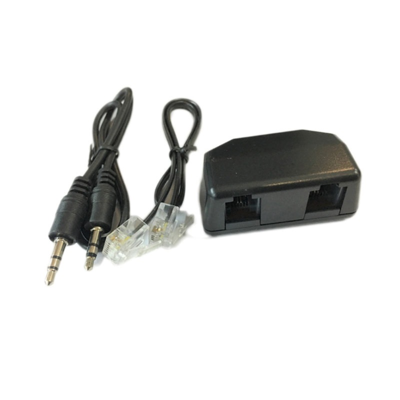 Unterhaltungselektronik Telefon Adapter Für Diktiergerät Voice Recorder Unterstützung 3,5mm Aufnahme Adapter Mic Linie-in Adapter Für Digital Voice Recorder QualitäT Und QuantitäT Gesichert Tragbares Audio & Video