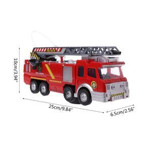 Image 5 - Spray Water Truck Toy Fireman Fire Truck Car Music Light Educational Toys Boy Kids Toy Gift