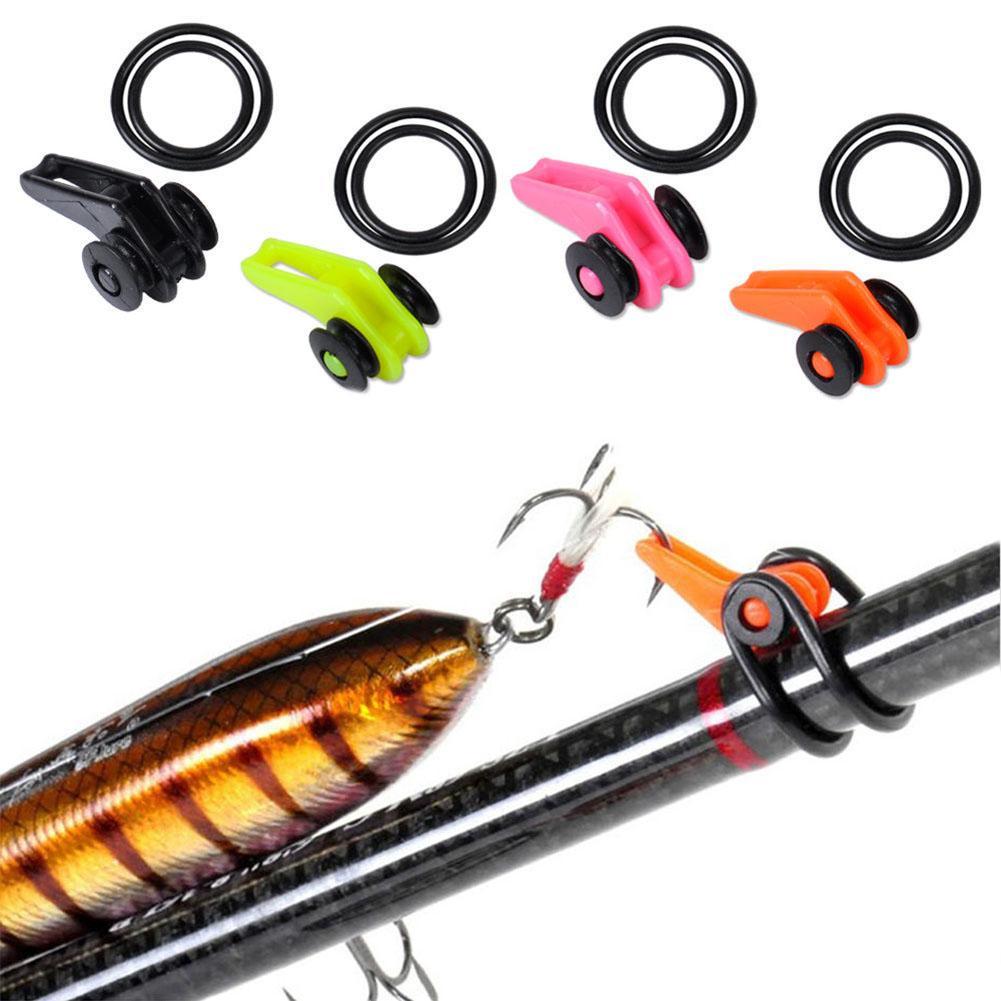 1 Set Professional Fishing Rod Easy Secure Hook Keeper Holder Adjustable Lures Safe Hanger