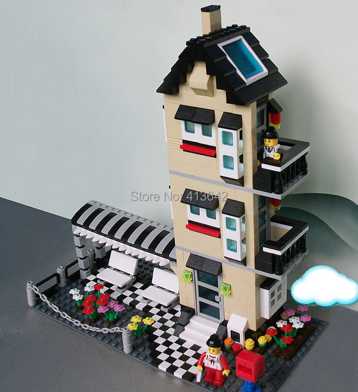 Gift sticker Wange 32053 546pcs very large hot 3D DIY Bricks blocks Building blocks sets children educational toys Agile villa