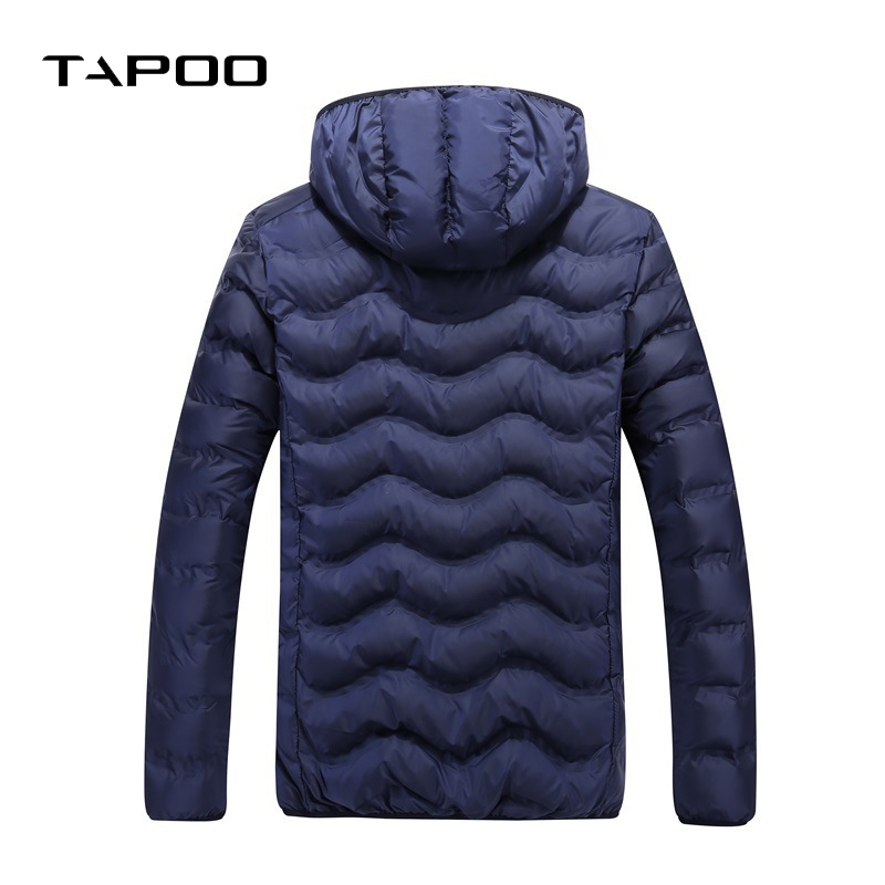 2018 Winter Coat Men Casual Warm Fur Hooded Jacket Mens Wnter Jackets And Solid color Male Thick Overcoat plus size L-4XL
