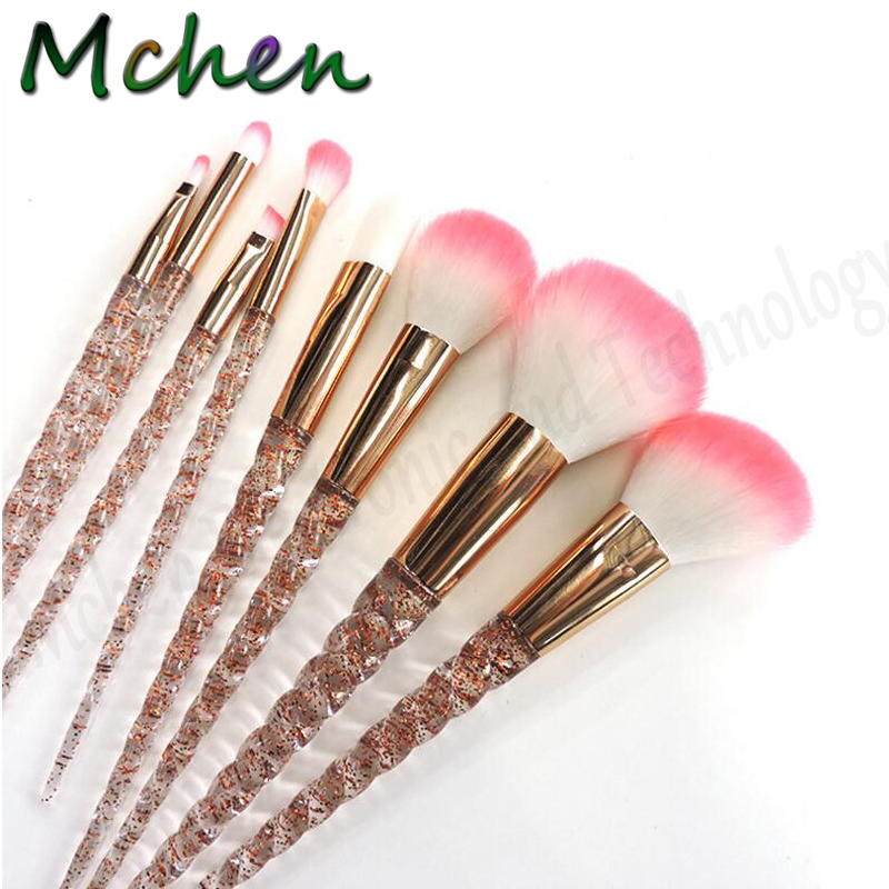 Hot Unicorn Makeup Brushes Set Make Up Pincels Maquiagem Powder Cosmetic Eyeshadow Highlighter -6979
