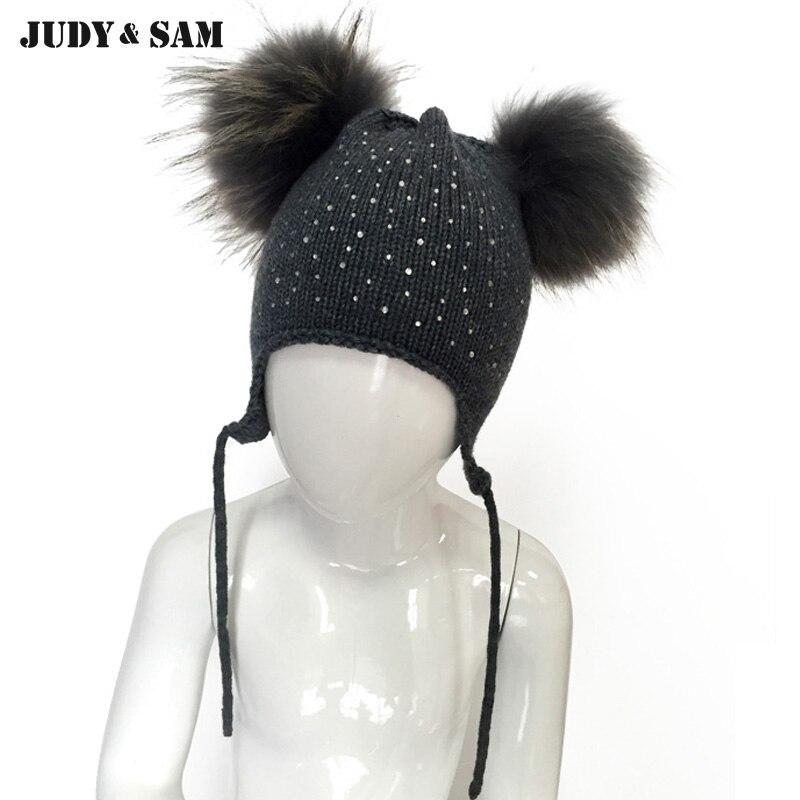 2016 new arrivals cute baby diamond hat 100 wool pink hat 50 wool grey hat double