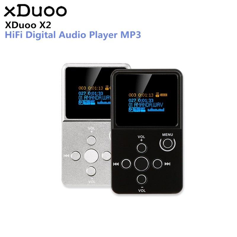 D'origine XDuoo X2 MP3 HiFi Numérique Audio Lecteur MP3 avec Écran OLED TF Fente Pour Carte Boîtier En Alliage D'aluminium