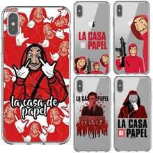 La casa de papel Tokio Spanish TV Clear Soft Silicone TPU Phone Case Back Cover For iPhone 5 5s Se 6 6sPlus 7 8 Plus X XR XS MAX