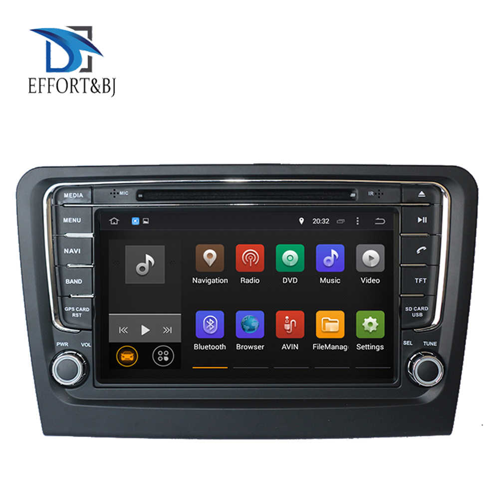 Android 9.0 Octa Core Car DVD player For SKODA Rapid 2013-2019 With GPS Navigation Car Radio Audio Video Multimedia DVD Player