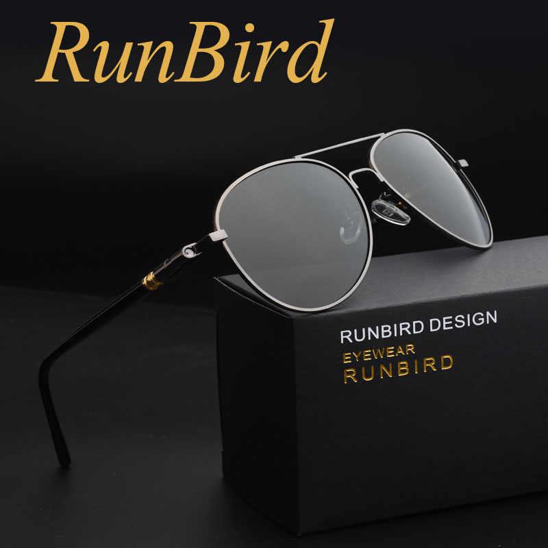 70166290e RunBird Men Sunglasses 2018 Polarized Sun Glasess Male Oculos De Sol  Masculino Pilot Fishing Gafas with