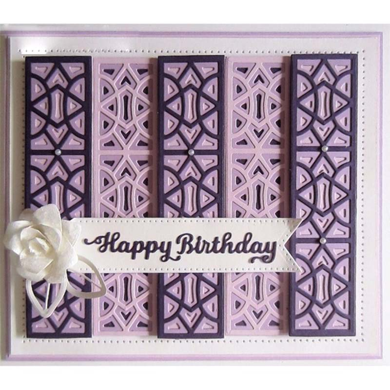 2pcs Happy Birthday Metal Cutting Dies Stencil For DIY Scrapbooking Decorative Embossing Suit Paper Cards Template Carfts 2019 in Cutting Dies from Home Garden