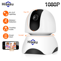 Hiseeu HD IP Camera 1080P Wireless Wifi Video Surveillance Network Security Camera Support 433MHz Wireless Detector