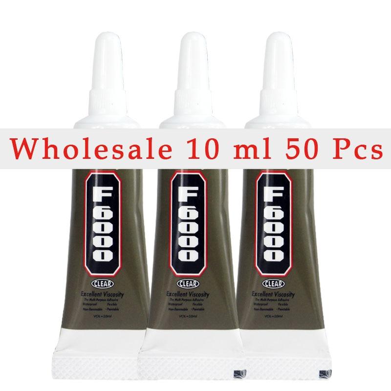 50 Pcs 10ml F6000 Glue Multi Purpose Adhesives Crafts Jewelry Rhinestones Fabric Glass Pearl Resin Super