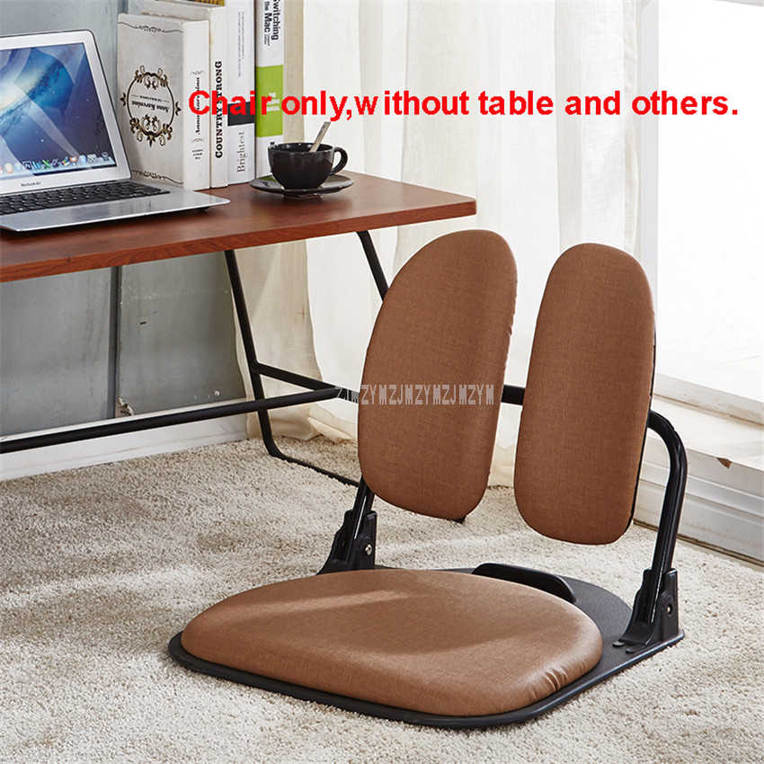 Floor Folding Living Room Chairs Single Soft Seat Sitting Backrest Ergonomic Design Armless Computer Legless Chair Furniture