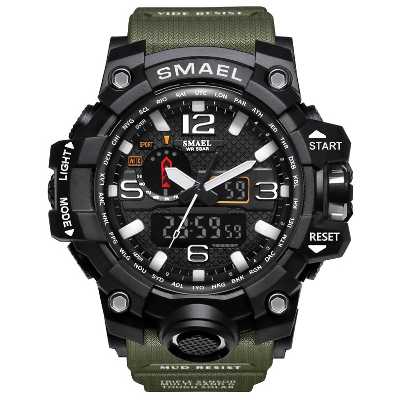 Brand Sport Dual Digital Watch Quartz Led Display Waterproof WristWatch Wrist Men Army Male Relogio Masculino Hodinky Fashion 30 cp1l em30dt1 d plc cpu dc input 18 point transistor output 12 point new original