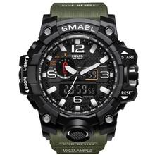 Marca Sport Reloj de Cuarzo Digital de Doble Pantalla Led A Prueba de agua Reloj de Pulsera de Los Hombres Del Ejército Masculino Relogio masculino Moda Hodinky 36