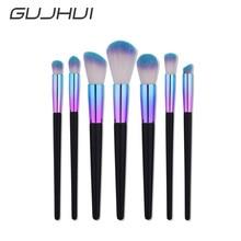 2017 7Pcs Blending Pencil Foundation Eye shadow Makeup Brushes Eyeliner Brush A10