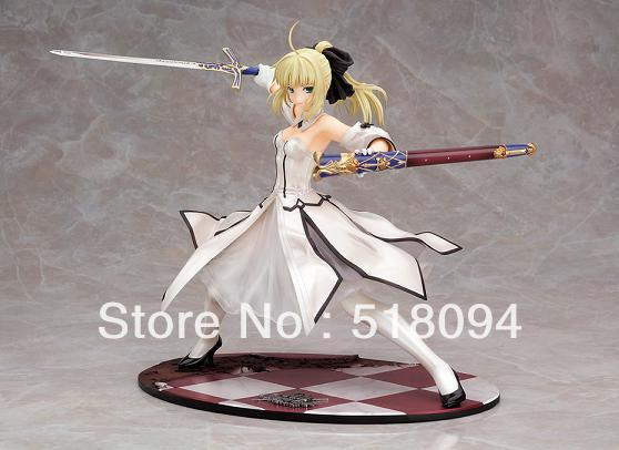 Fate Stay Night Saber Lily Avalon 1 7 Painted PVC Figure B New in Box Toy fate stay night unlimited blade works king of knights saber 1 7 scale pre painted figure collectible toy 25cm