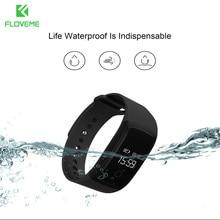 FLOVEME A9 Sport Passometer Heart Rate Monitor Bluetooth 4.0 For iPhone Samsung Smart Watch Men Women Android iOS Bracelet Clock