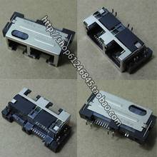Free shipping For the original notebook phone line interface + network cable interface Rj11 + RJ45 03