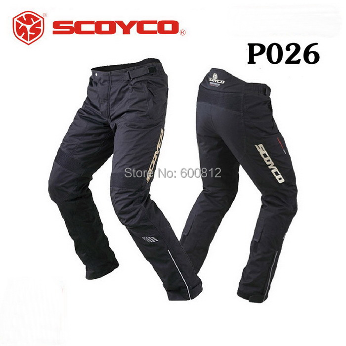 SCOYCO P026 protective motorcycle riding pants Trousers waterproof windproof Motorbike racing Pant fall and winter cold and warm scoyco mens motorcycle pants racing trousers winter summer p028