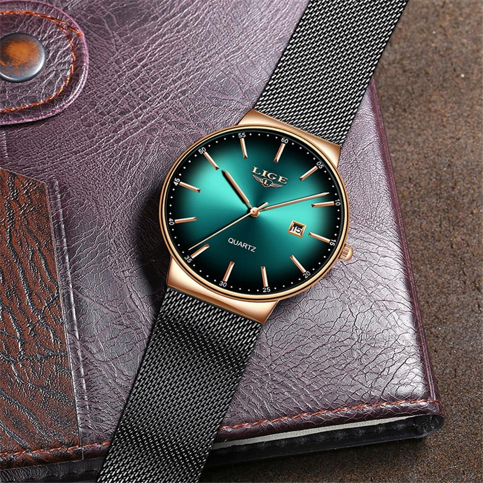 HTB18WIyQIfpK1RjSZFOq6y6nFXak LIGE New Mens Watches Top Brand Luxury Fashion Mesh Belt Watch Men Waterproof Wrist Watch Analog Quartz Clock erkek kol saati