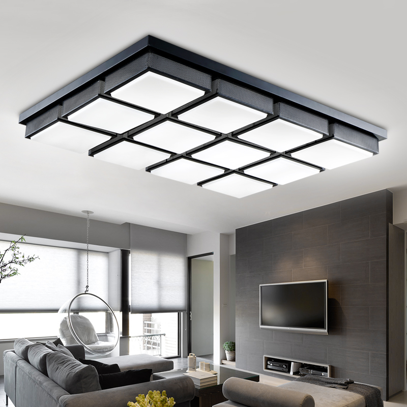 a1 the new cube led square ceiling living room dining room. Black Bedroom Furniture Sets. Home Design Ideas