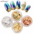 12 Boxes / set Multicolor Nail láminas brillante del clavo Sparkles Gold & Silver Nail Art Glitter decoración de DIY