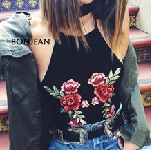 Tank Top Real Cropped Embroidery Short Tops Crop Free Acetate Solid Camis Lycra Shiping 2018 Sling