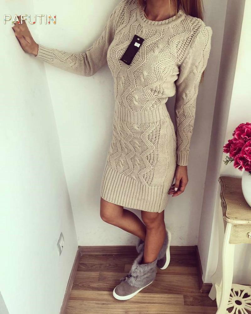 2018 nouvelles femmes tricot robe mode crochet fleur tricot robe femme kaki
