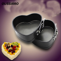 1 PCS 4 Inch Heart Shaped Cake Belt Lock Buckle Mousse Ring Is Not Easy To