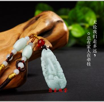 Genuine natural Burmese stone pendant necklace carved zodiac amulet pendant exquisite men and women jewelry JADES jewelry