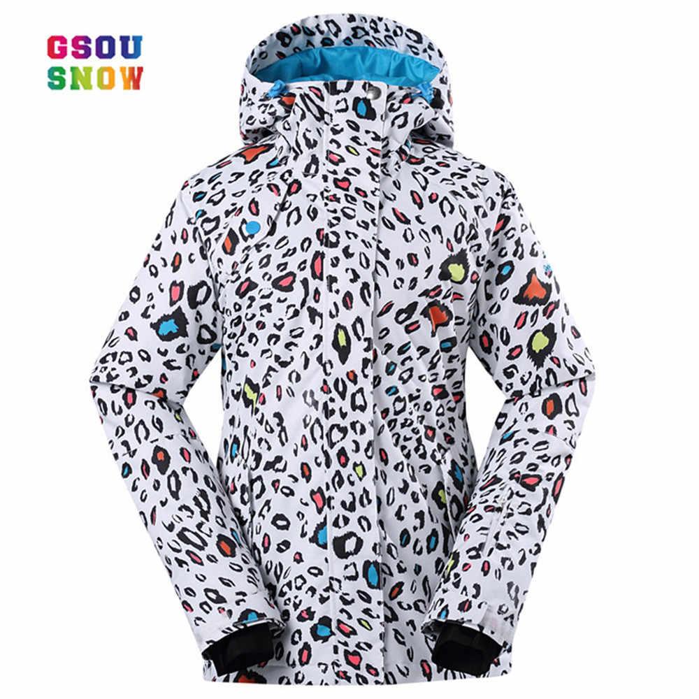 3ce18542fbc9 GSOU снег Лыжная куртка для женщин уплотненный теплый зима сноуборд  ветрозащитный Mountain Лыжный Спорт зимние пальто
