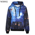 2017 Spring Autumn Galaxy Print Punk Man Women Hoodies Fashion Leaf Print Coat With Pocket Digital Print Hooded Pullovers 60500