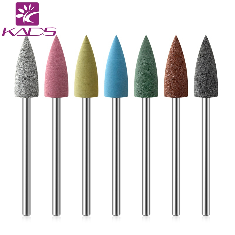 KADS Rubber Nail Drill Bits Flexible Polisher Manicure Machine Nail Accessories Electric Nail Pedicure Small Pointed Head