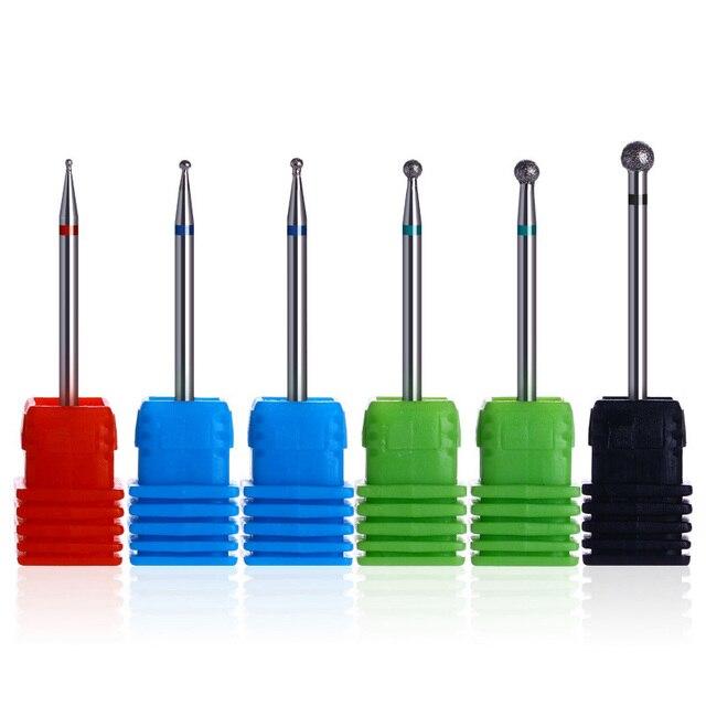 6 Types Diamond Nail Drill Bit Burr Milling Cutter Manicure Nail Art ...