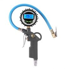 цены 0-220psi 0-16bar Digital Tyre Pressure Gauge Tyre Tire Air Pressure Inflator Gauge Meter Tester Manometer
