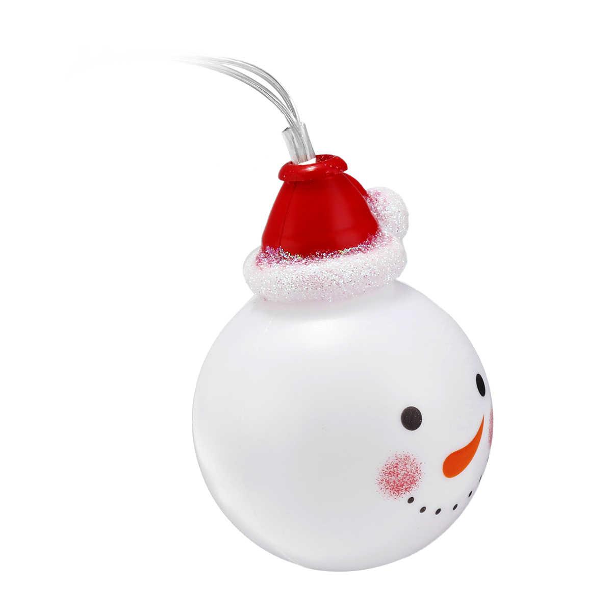 3/1.5m 10/20 LEDS Christmas Snow Man Shape LED String Lights Battery Operated Holiday Lighting Christmas Tree Decor