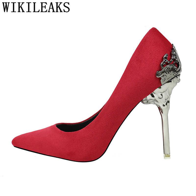 Elbise ayakkabı kadınlar lüks topuklu düğün topuklu gelin ayakkabı stiletto tacones parti ayakkabıları altın topuklu yeni varış 2019 bayan ayakkabi
