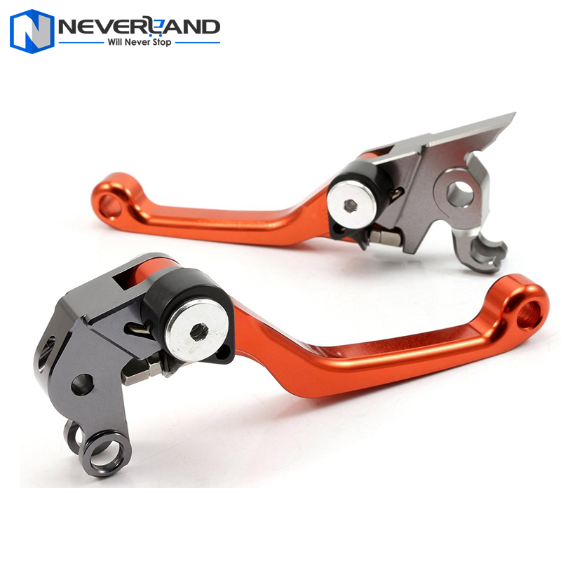 NEVERLAND Orange CNC Pivot Brake Ctutch Levers For KTM 125 EXC/SX 2005 2006 2007 2008 Magura Motorcycle Accessories aftermarket free shipping motorcycle parts eliminator tidy tail for 2006 2007 2008 fz6 fazer 2007 2008b lack