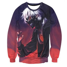 Tokyo Ghoul Male and Female 3D long Sleeved Sweater Hoodie