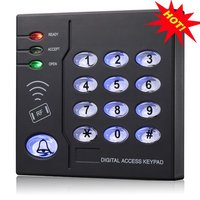 waterproof proximity 13.56MHZ IC smart card rfid reader with keypad wiegand26 output use for access control system