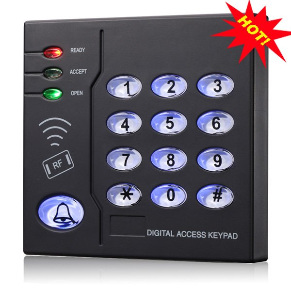 waterproof proximity 13.56MHZ  IC smart card rfid reader with keypad wiegand26 output use for access control system contact card reader with pinpad numeric keypad for financial sector counters